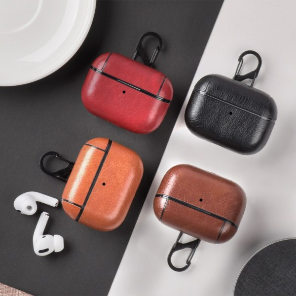 New Leather Case for AirPods Pro with Keychain Hook Up Shockproof Cover For AirPods 3 White Transparent Case Black Green