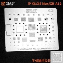 Amao BGA Reballing Stencil dedicate kit for iPhone 5/5s/5s/6/6s/6p/6sp/7/7p/8/8p/x/xs/xs max  Baseband CPU IC Reballing Console