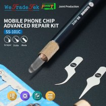 SS-101C IC Chip NAND Knife Hand Polished CPU Pry Edge Glue for iPhone Motherboard BGA Glue Cleaning Scraper With 3 Blade