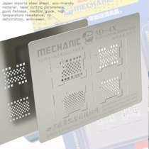 MECHANIC 3D Groove Reballing Stencil 3D-4X Hard Disk NAND PCIE Stencil for iPhone XR XS max XS X 8P 8 7P 7 6sP 6P  iPad 2/3/4