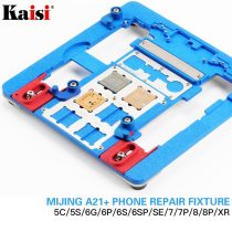 Kaisi A21+ Repair Board PCB Holder For iPhone XR 8 8+7 6 6s 6sp 5s 5C For A8 A9 A10 Logic Board Chip Fixture 12 in 1