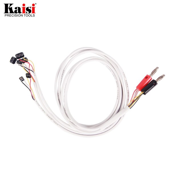 Kaisi Current Test Cable for iPhone XS/Max/XR/8/8P/7/7P/6/6S/6SP/5S/5 Phone Failure Detect Repair Tool with Alligator Clip