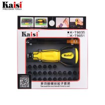 kaisi 34 in 1 Screwdriver Set Multi-function Computer PC Mobile Phone Digital Electronic Device Repair Hand Home Tools Bit