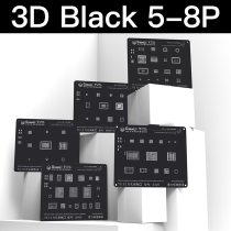 3D Black BGA Reballing Stencil kit for iPhone 8P/8/7P/7/6SP/6S/6P/6/5S/5 Communication Baseband Module Tin Planting Plate