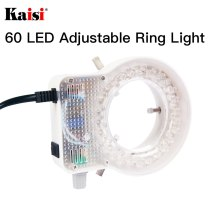 Kaisi Ultrathin 60 LED Adjustable Ring Light illuminator Lamp For STEREO ZOOM Microscope EU/US Plug