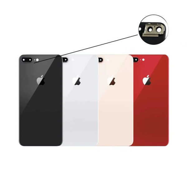 For iPhone 8 8 Plus Back Glass Replacement Big Camera Hole