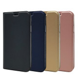 For iPhone 6 6S 7P 8Plus XS XR MAX 11 Pro Case Leather Case Magnetic Flip Case Storage Card Solid Color Bracket