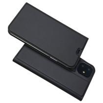 For iPhone 6 6S 7P 8Plus XS XR MAX 11 Pro Case Leather Case Magnetic Flip Case Storage Card Solid Color Bracket