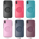 For iPhone 6S 7 8 Plus XS XR MAX 11 12 Pro Case Airbag Bracket Mobile Phone Case anti-fall Two in One