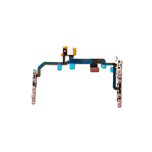 For iPhone 8 Plus Mute Switch Power On Off Button Flex Cable with Metal Holder
