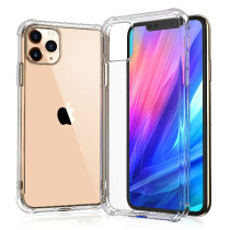 For iPhone 7 8Plus XS XR MAX 11 12 Pro Case The Soundproof hole of The Four Corner anti-fall Mobile Phone Shell of The Airbag is Transparent