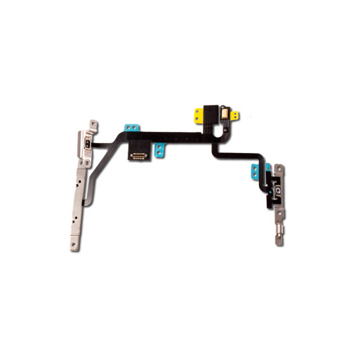 For iPhone 8 Mute Switch Power On Off Button Flex Cable with Metal Holder