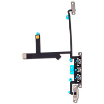 For iPhone XS Volume Control Button Ribbon With Metal Bracket Flex Cable