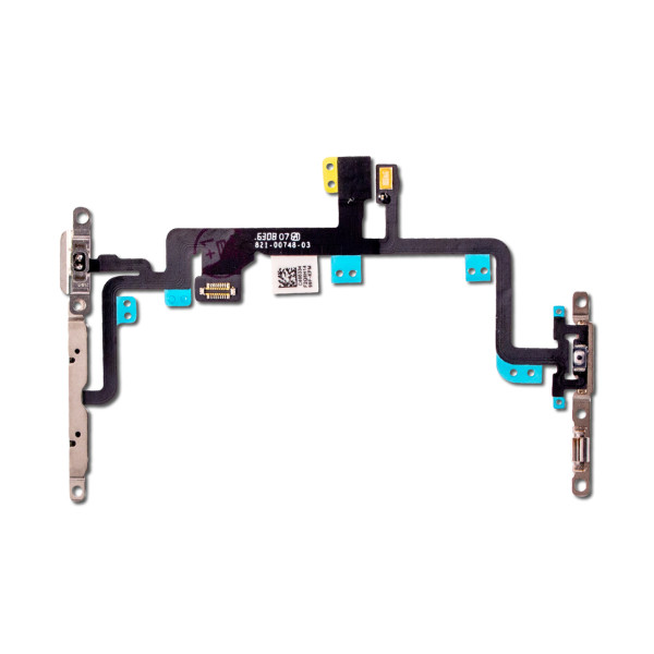 For iPhone 7 Plus Mute Switch Power On Off Button Flex Cable with Metal Holder