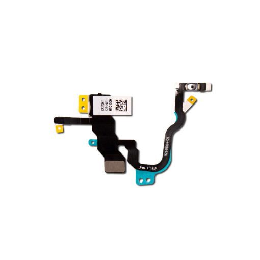 For iPhone X Power Button Flex Cable with Metal Holder
