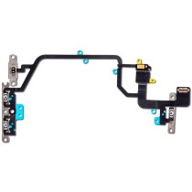 For iPhone XR Mute Switch Power On Off Button Flex Cable with Metal Holder