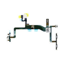 For iPhone 6S Mute Switch Power On Off Button Flex Cable with Metal Holder