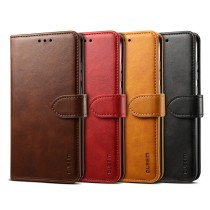 For iPhone 6S 7 8 Plus XS XR MAX 11 12 Pro Case Flip Phone Case Multi-function Storage Card Holder Msuction Leather Case