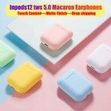New Inpods 12 TWS Matte Macaron Wireless Bluetooth 5.0 Comfortable Headphones Earphones Super for Iphone11 Earphone HIFI True
