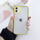 For iPhone 7 8 Plus XS XR SE MAX 11 12 Pro Case Colorful Stitching Two-color Tempered Glass Mobile Phone Case