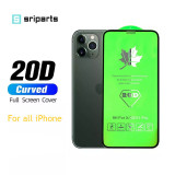 20D Full Cover Tempered Glass Screen Protector for iPhone x xs max xr 11 12 pro max