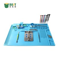 S-170 Heat Insulation Silicone Soldering Pad Mat Desk Maintenance Platform For Repair Station With Magnetic