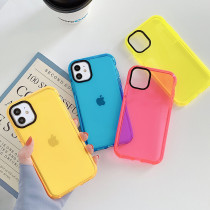 Neon Fluorescent Phone Case For iPhone 11 Pro Max XR XS Max 7 8 Plus X Shockproof Camera Protection Soft TPU Back Cover