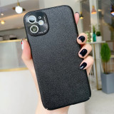 For iPhone 11 Pro MAX Case Anti-skin Pattern Mobile Phone Case Metal Protection Lens Hard Case