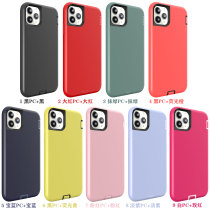 For iPhone 7 8 Plus X XS XR MAX 11 Pro Case Three-in-one liquid Silicone Anti-fall Mobile Phone Case Dustproof All-inclusive
