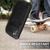 For iPhone XS MAX XR 11 Pro Case Metal Anti-fall and Dustproof Mobile Phone Case Three-proof All-inclusive bracket