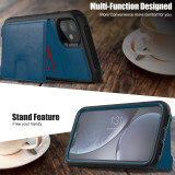 For iPhone 7 8 Plus SE 2020 XS XR MAX 11 Pro Case Faux Leather Mobile Phone case Multi-function Card Flip Clamshell Single Case