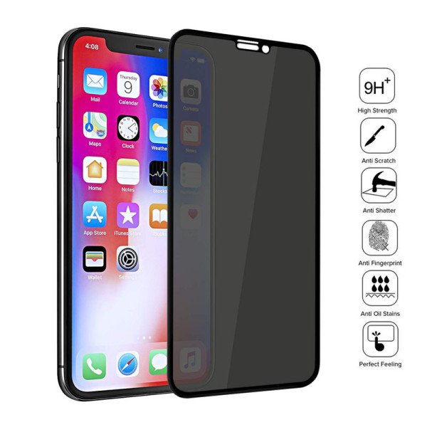 Full Cover Private Screen Protector for iPhone X XS MAX XR Antispy Tempered Glass For iPhone 11 6 7 8 Plus Privacy Glass