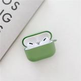 Cute Solid Color Earphone Case For AirPods Pro Cases Hard PC Luxury Matte Texture Protective Cover for AirPod 3 Air Pods