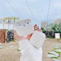 Original For Apple Airpods 1 2 pro Wireless Bluetooth Earphone Case cute white bear For Apple AirPods TPU Cute Cover Box Case