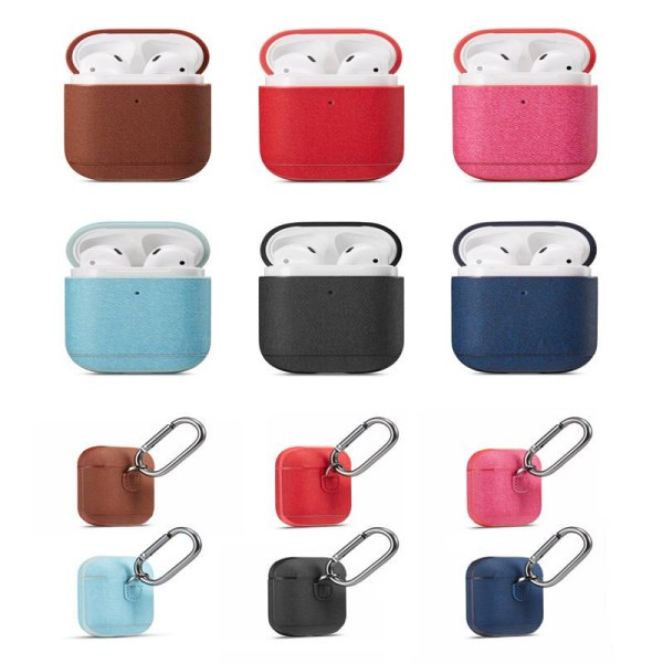 Wireless Bluetooth Earphone Protection Case For Apple Airpods 2 With Simple Oblique Cloth Pattern Shock Box Bag For Airpods 2