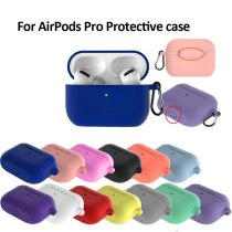 Ultra Thin Silicone Case For AirPods Pro 2019 Wireless Charging Silicone Protective Skin Cover Bluetooth Headset Shockproof Case