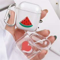 Fruit Cartoon Case Transparent PC For Apple Airpods 1/2 Protective  Wireless Bluetooth Earphone Case Shockproof Bags Box Cover