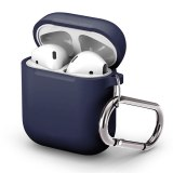 For Apple AirPods 1/2 Anti Drop Bluetooth Wireless Earphone Case Protective Cover Shockproof Sleeve Charging Box Bags With Hook