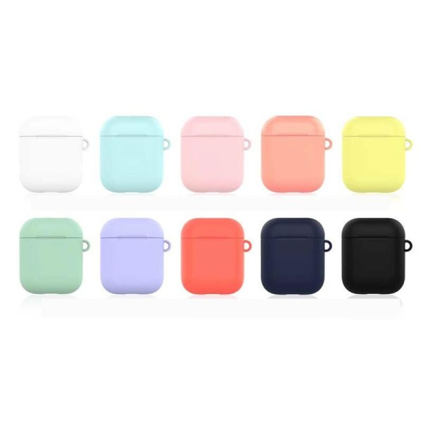 TPU Silicone Bluetooth Wireless Earphone Cases For Apple AirPods 1/2 Protective Cover Charging Box Anti Drop Bag With Hook