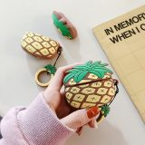 3D Pineapple Case For Airpods Pro 3 Original Case Silicone Case Cover For Airpods Case Keychain Key Ring Earphone Accessories