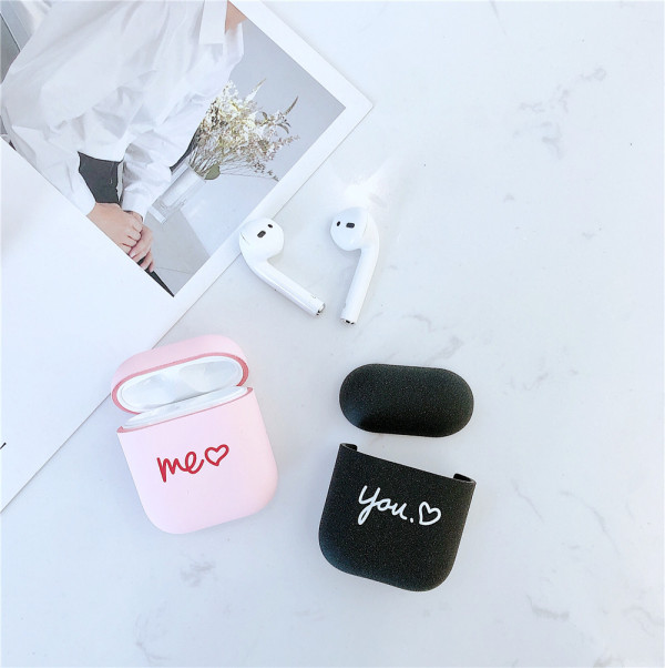 Frosted Cases for Airpods 1/2 Luxury Protective Wireless Earphone Cover Case for Apple Airpods Case 1&2 Shockproof Earphone Case