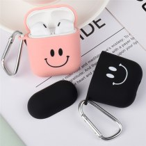 Smiling PC Earphone Case For Apple Airpods 1/2 Bluetooth Wireless Earphone Protective Cover Portable Bags Shockproof With Hook