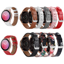 For Samsung Galaxy Watch Active band Flower Printing Genuine Leather Watchband Gear S2 Pink Bracelet Band Watchband Accessories