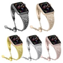 Stainless steel strap For Apple Watch Series 5/4/3/2/1 Bracelet Women Diamond Band for iWatch 38mm 42mm 40mm 44mm Wristband new