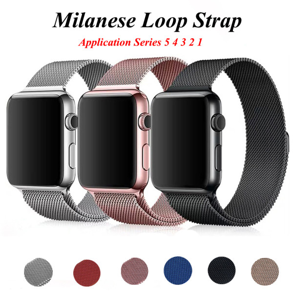Milanese Loop Bracelet For Apple Watch band series 1/2/3 42mm 38mm Stainless Steel strap for iwatch 4 5 40mm 44mm Watchband