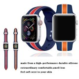 Striped Strap For Apple Watch band 38mm 42mm iWatch band 44mm 40mm Sport Silicone belt Bracelet Apple watch 5 4 3 2 Accessories