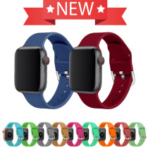 21 Color Silicone Strap For Apple Watch Band 42mm 38mm 44mm 40mm watch Wristband Bracelet For Apple Watch Strap Series 5 4 3 2 1