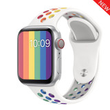 watchband for Apple Watch 4 5 40mm 44mm Soft Silicone Sport Breathable Strap for iWatch Series 5 4 3 2 1 38MM 42MM Accessories