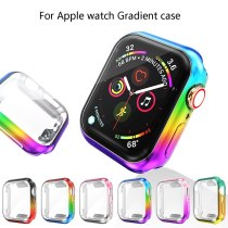 Protective Case For Apple Watch 4 5 360 Slim Gradient TPU Case Screen Protector for iWatch 42MM 38MM 44MM 40MM waterproof Shell