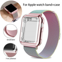 Milanese Loop band and case for Apple Watch 42mm 44mm 40mm 38mm bracelet Stainless Steel strap for iwatch series 5/4/3/2/1 Strap
